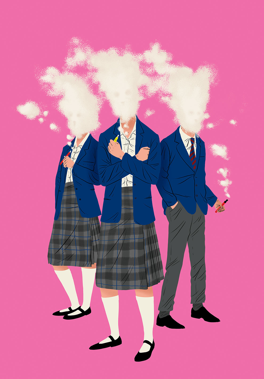 Children vaping illustration by Paul Blow