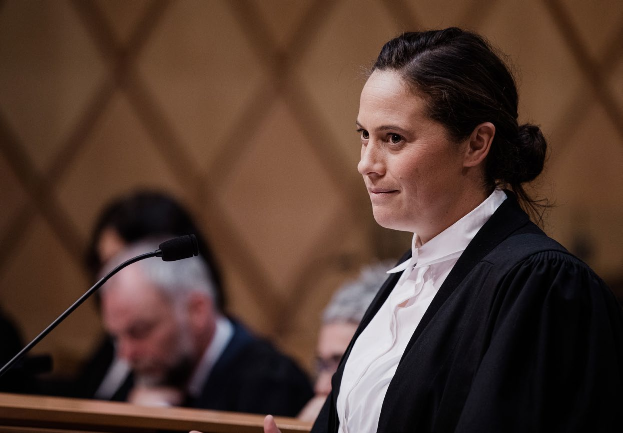 Natalie Coates in the Supreme Court.