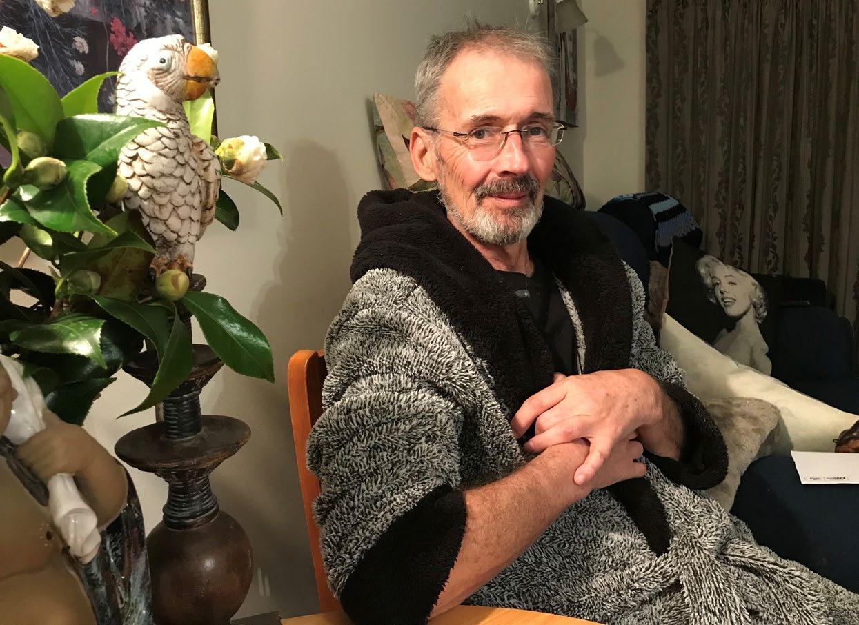 Peter Ellis age 61, just before his death