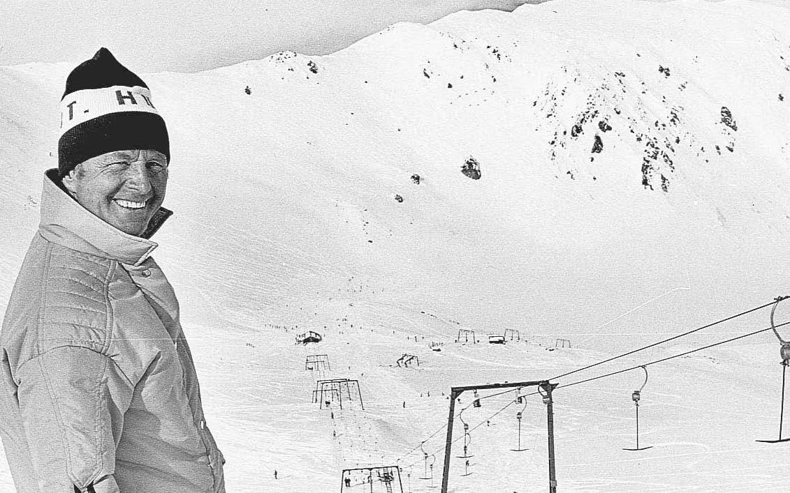 Willi Huber at Mt Hutt Ski Area. Photo: Evening Post