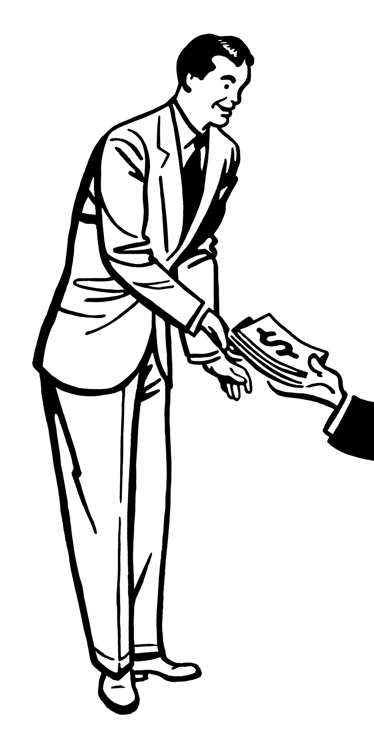 Man Receiving Money
