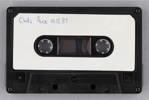 The Chills tape with date on.