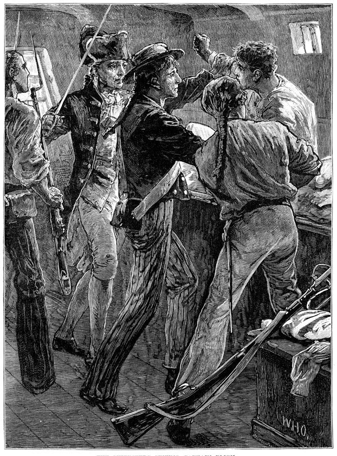 Mutineers seizing Captain Bligh.