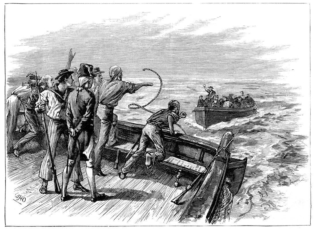 Bligh cast adrift.