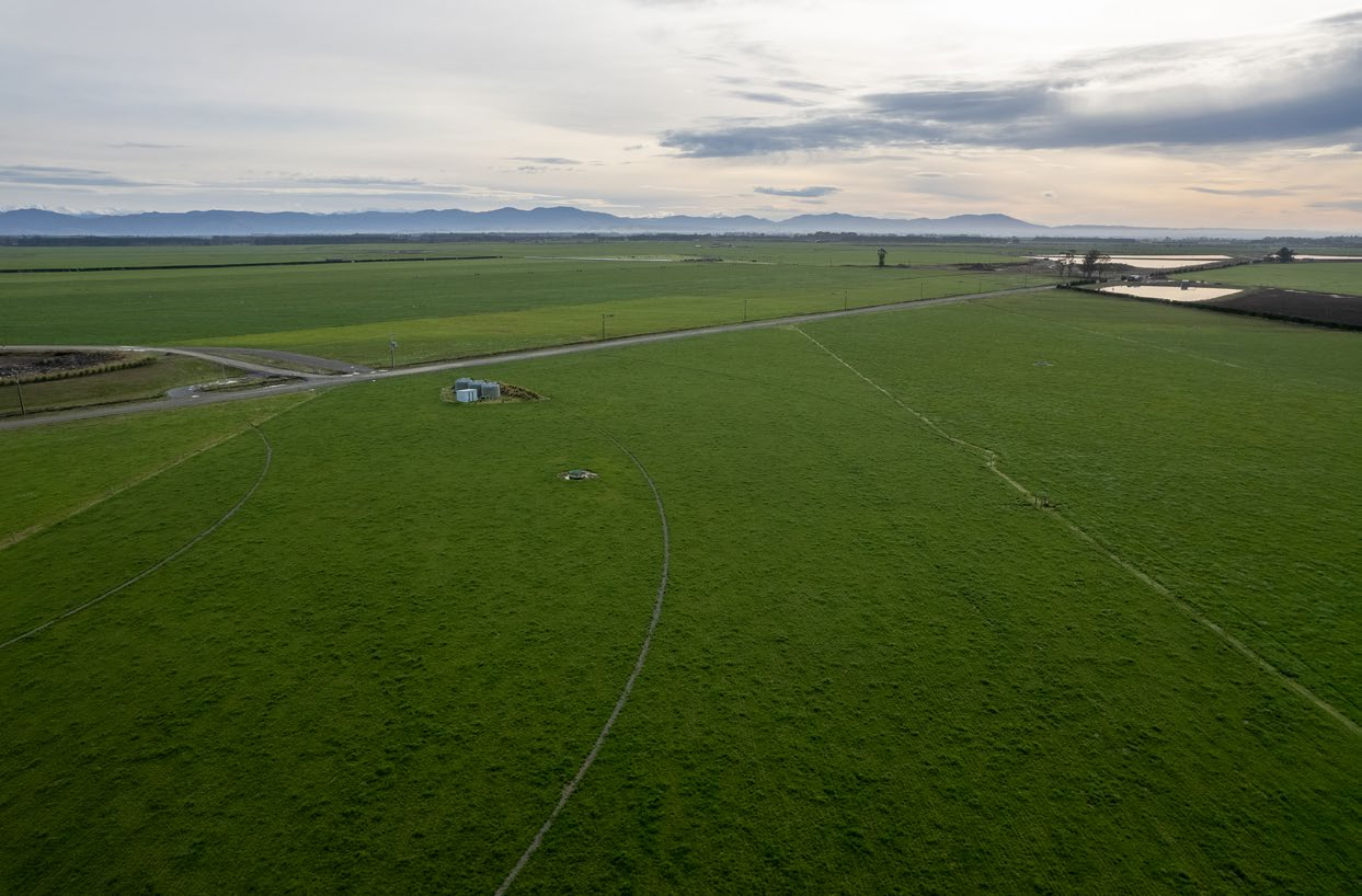 Drone shot of the Claxby farm.