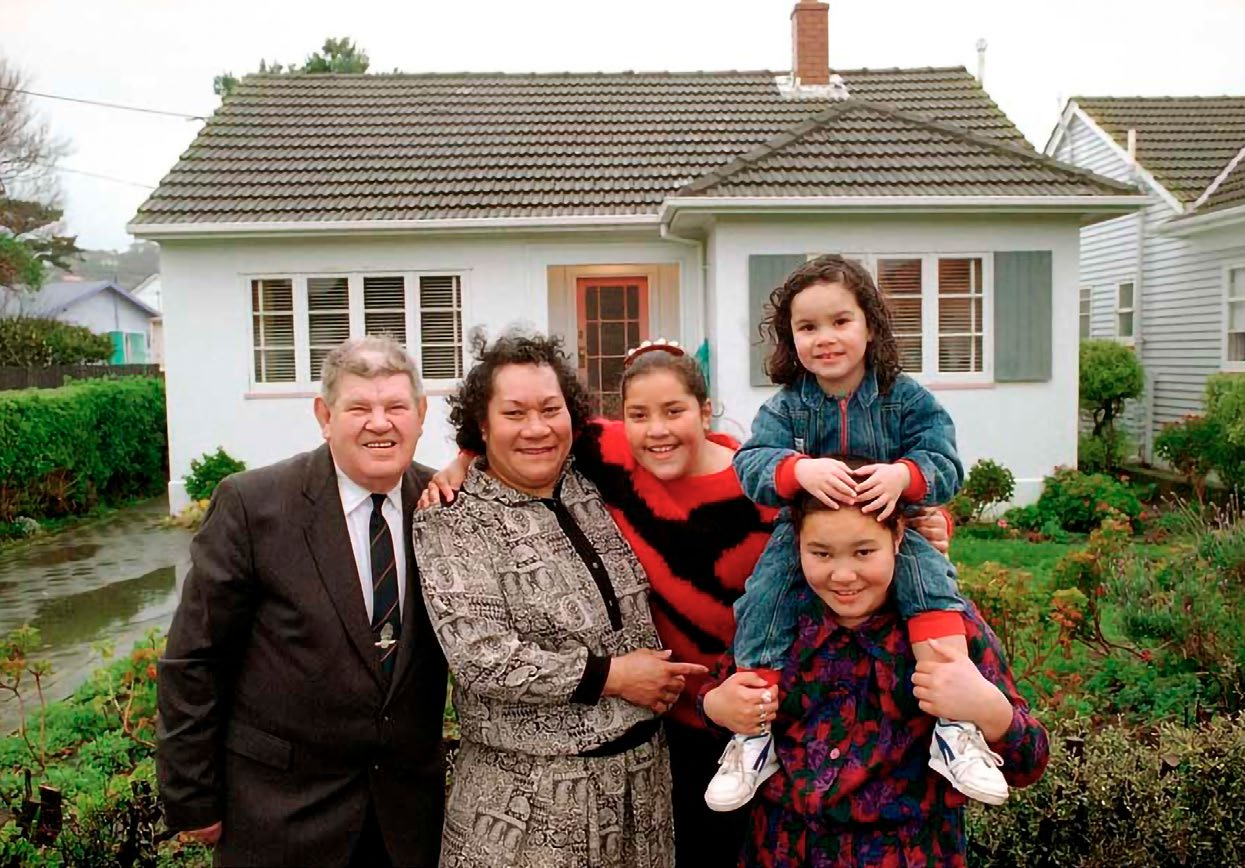 John and Winnie Nysse and their children, Theresa, Joana and Sophia, outside the same Fife Lane house, now their home, in the late 1990s. Photo: New Zealand Herald. standing outside 12 Fife Lane in 1978. Photo: Archives New Zealand/Te Whare Tohu Tuhituhinga O Aotearoa.