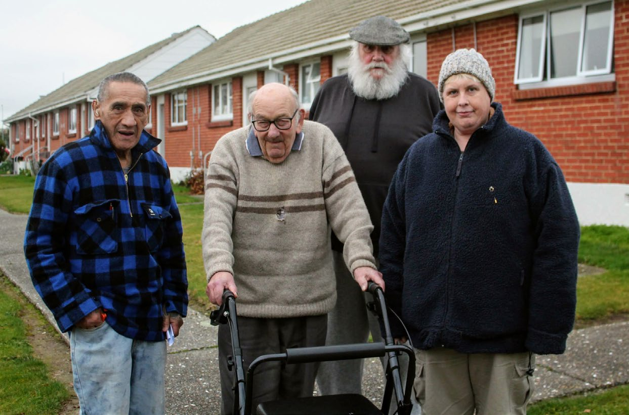 Invercargill City Council housing unit tenants' association members (from left) Nehua Henare, Norman Agnew, Ken McNaught and Leisha Kennedy want to have a collective voice when discussing issues with the council. Photo: Luisa Girao.