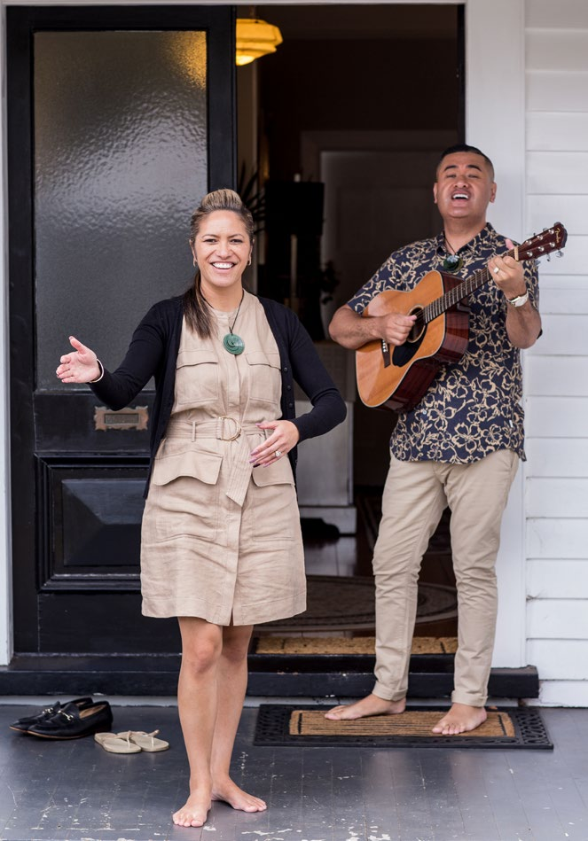 Kaiora and Francis Tipene at their home.