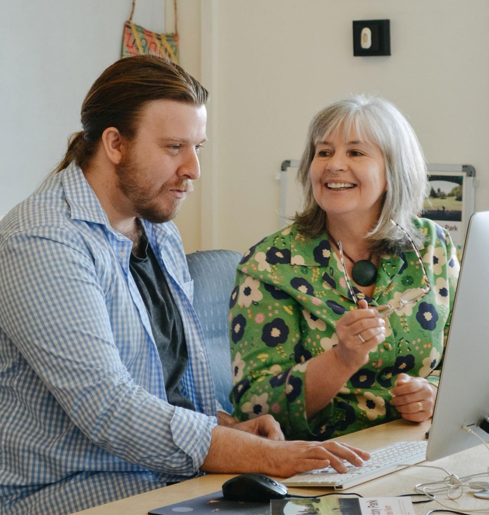 Paul Stewart and Mary McCallum of Mākaro Press