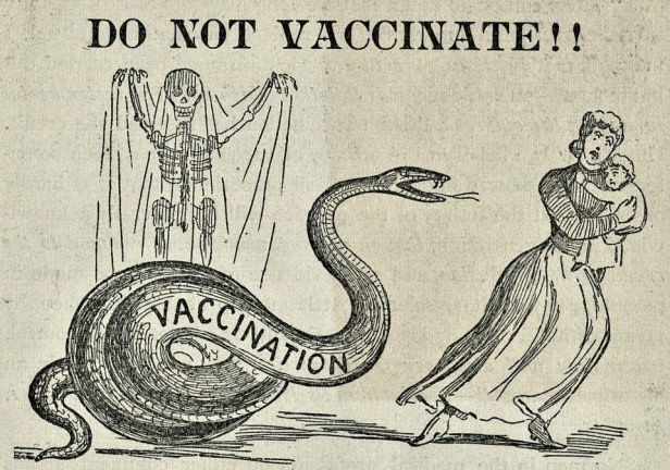 An anti-vaccination cartoon from the late 1800s.